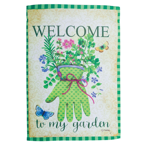 Welcome to My Garden Two-Sided Garden Flag