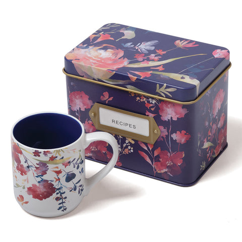 Wildflowers Recipe Box and Mug Set (NB)