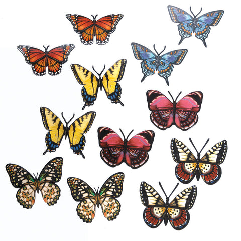 Radiant Butterflies Screen Door Savers, Set of 6 (NB)