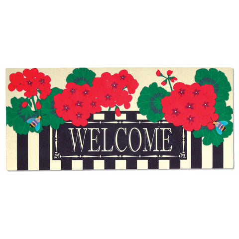 Switchmat Geraniums Welcome Insert