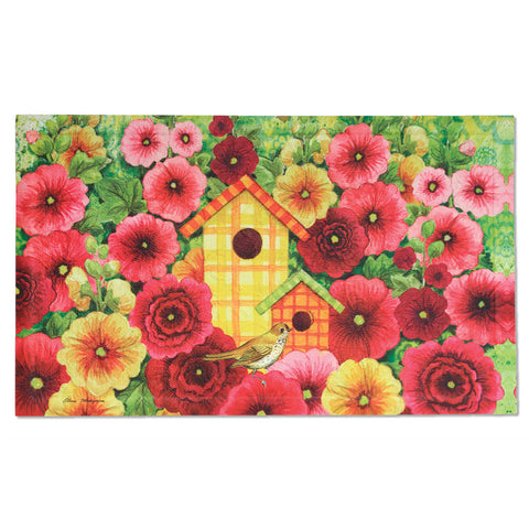 Summer Birdhouse Embossed Door Mat