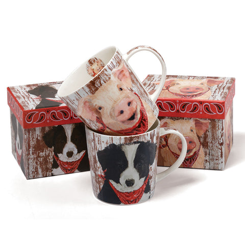 Melvin The Border Collie Bone China Mug