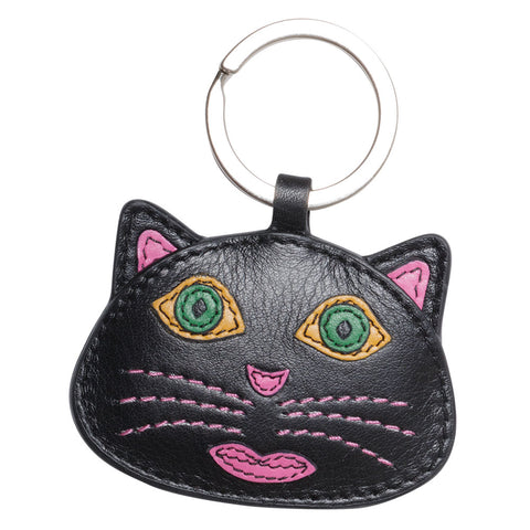 Leather Kitty Keychain (NB)