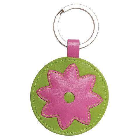 Flower Power Leather Keychain (NB)