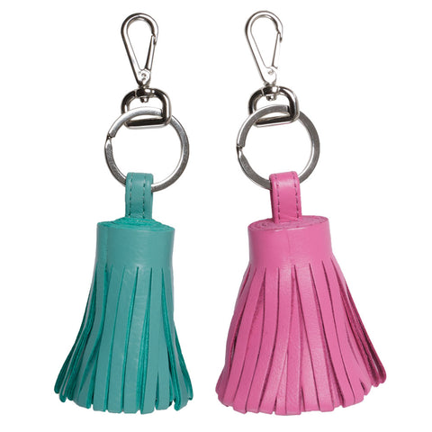 Clip-On Leather Purse Tassel and Keychain (NB)