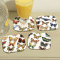 Butterfly Kaleidoscope Coasters Set