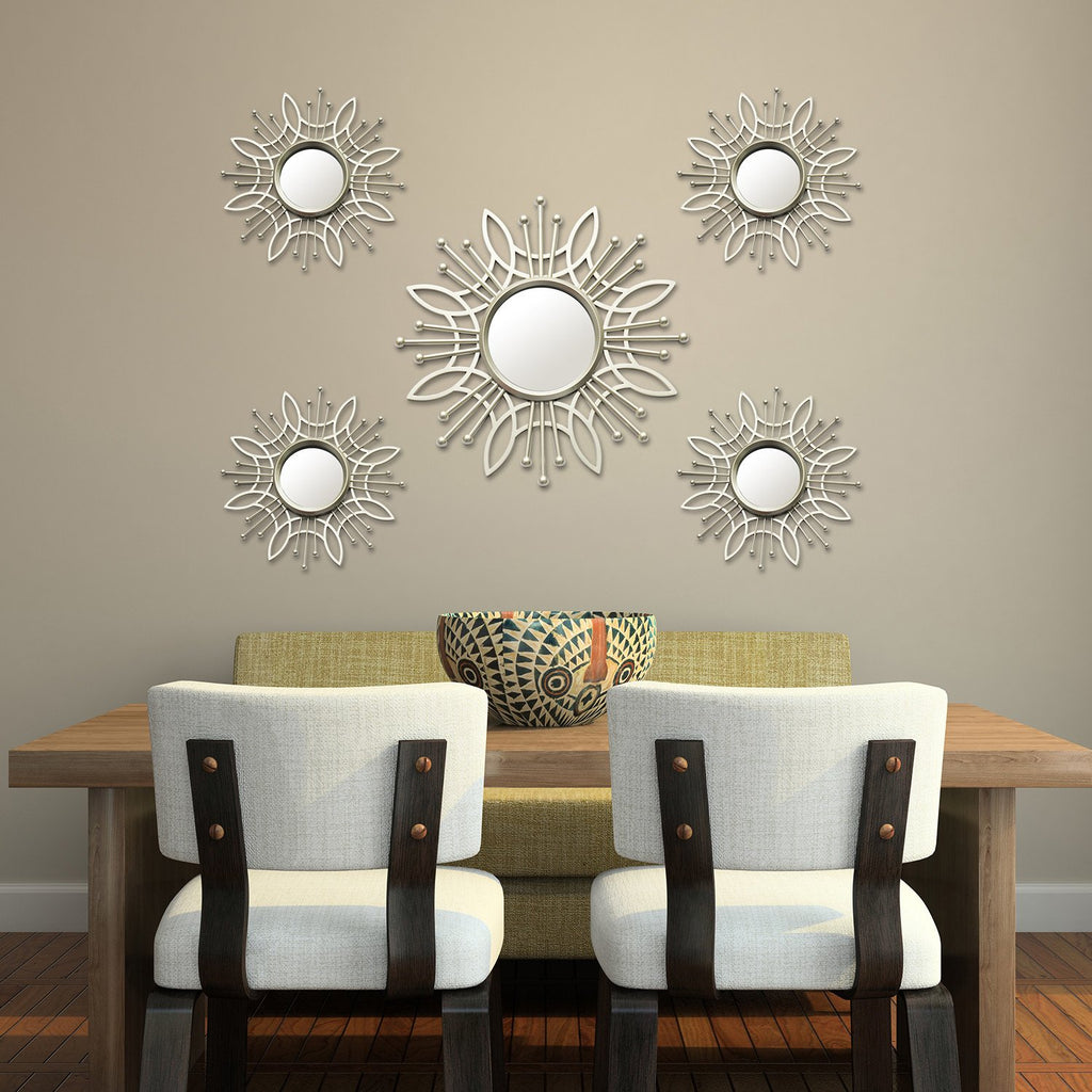 Five Piece Champagne Burst Wall Mirror