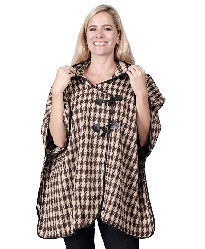 Ladies Fashion Ruana Knit Cape - FP60407-BB at Linda Anderson