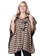 Load image into Gallery viewer, Ladies Fashion Ruana Knit Cape - FP60407-BB at Linda Anderson