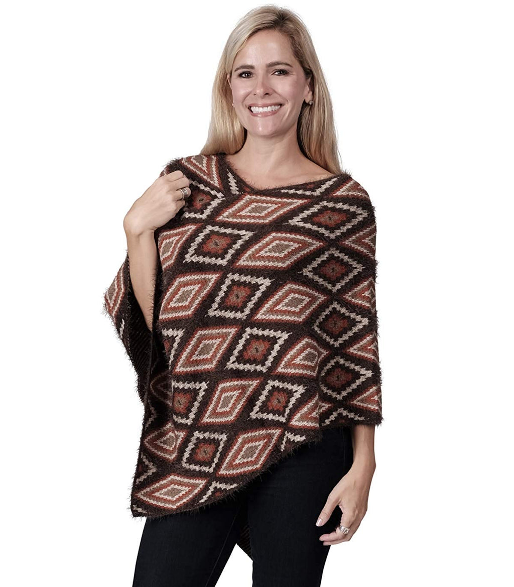 Ladies Fashion Ruana Knit Cape - FP60152-BB at Linda Anderson