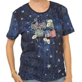Ladies Brocade Fourth of July Top
