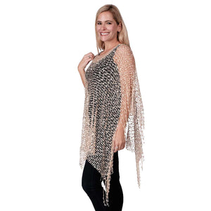 Wrap confetti poncho with Fringes at Linda Anderson