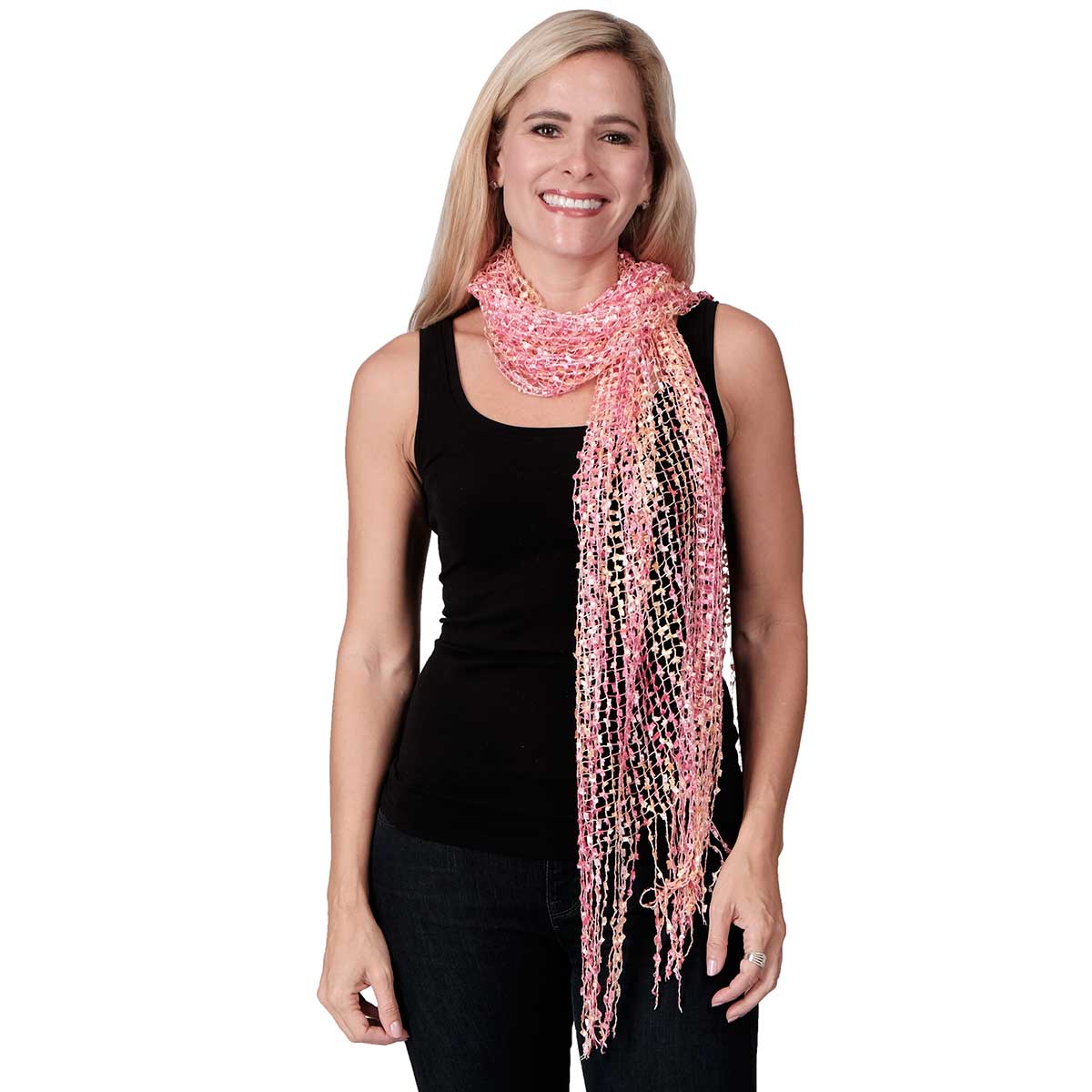 Wrap Shawl Flitter with Fringes at Linda Anderson