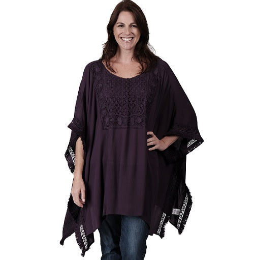 Ladies Crochet Bib Poncho