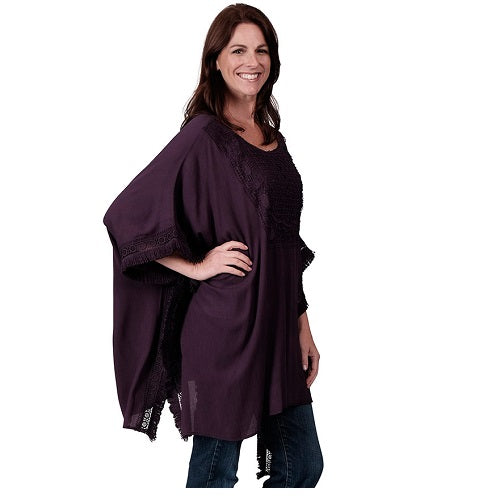 Ladies Crochet Bib Poncho at Linda Anderson