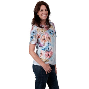 Summer Floral Printed Tee at Linda Anderson