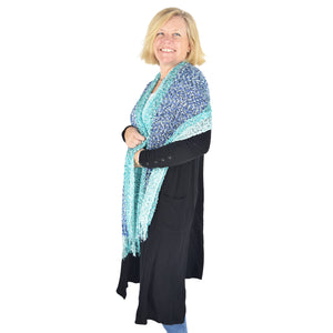 Turquoise Shimmer Scarf
