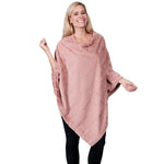 Load image into Gallery viewer, Ladies Fur Pearl Poncho  - Mauve at Linda Anderson
