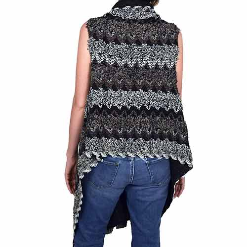 Womens Multi-Color Textured Vest at Linda Anderson