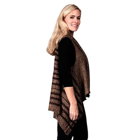 Ladies Fashion Ruana Knit Cape FP60112-BB