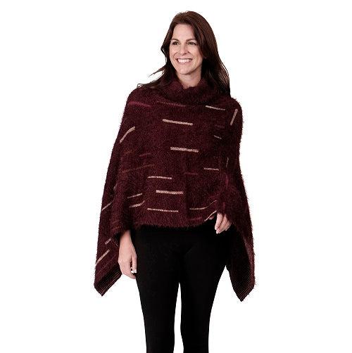 Ladies Fashion Ruana Knit Cape - FP60136-BB