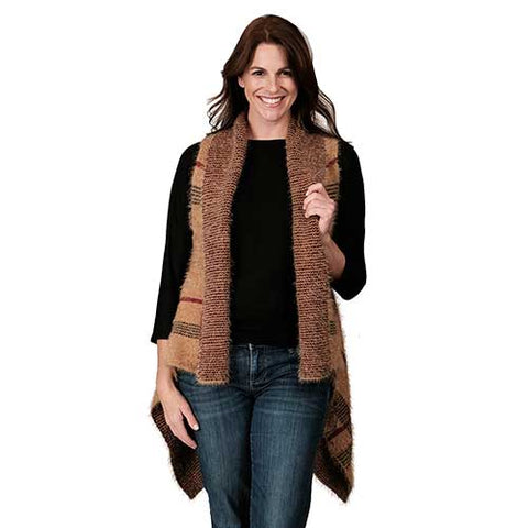 Ladies Fashion Ruana Knit Vest FP60147-BB