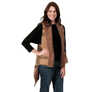 Ladies Fashion Ruana Knit Vest FP60147-BB at Linda Anderson