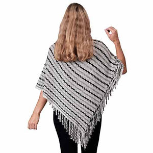 Ladies Fashion Ruana Knit Cape - FP60149- BB at Linda Anderson