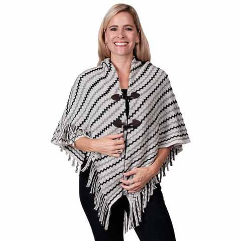 Ladies Fashion Ruana Knit Cape - FP60149- BB