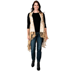 Ladies Fashion Ruana Knit Vest - FP60301-BB at Linda Anderson