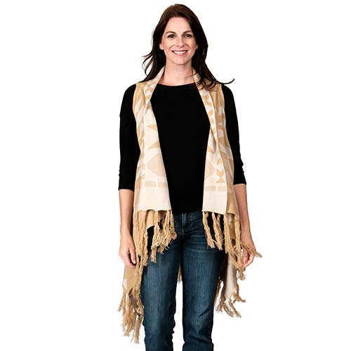 Ladies Fashion Ruana Knit Vest - FP60301-BB