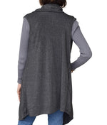 Load image into Gallery viewer, Womens Heather Flows Vest - Charcoal at Linda Anderson