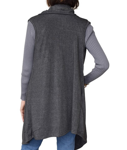 Womens Heather Flows Vest - Charcoal