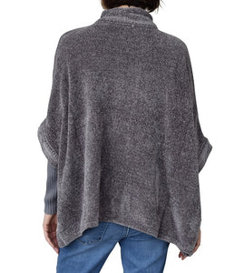 Chenille Poncho With Neck Toggle at Linda Anderson