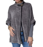 Load image into Gallery viewer, Chenille Poncho With Neck Toggle at Linda Anderson