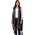 Womens Multi-Color Textured Vest