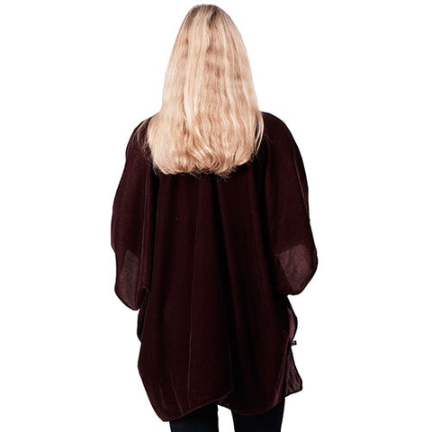 Ladies Wine Ruana Kit Cape Velvet