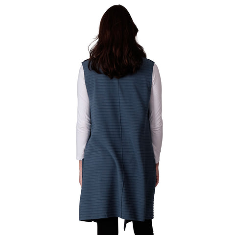 Le Moda Women's Pleated Polar Fleece Vest