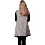 Load image into Gallery viewer, Le Moda Marled Knit Piped Vest Blk/Wht at Linda Anderson