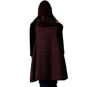 Le Moda Ladies Stripes Vest at Linda Anderson. color_burgundy