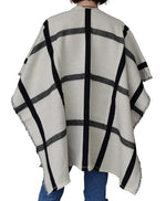 Load image into Gallery viewer, Women Plaid Fur Pocket Ruana by Marcus Adler at Linda Anderson