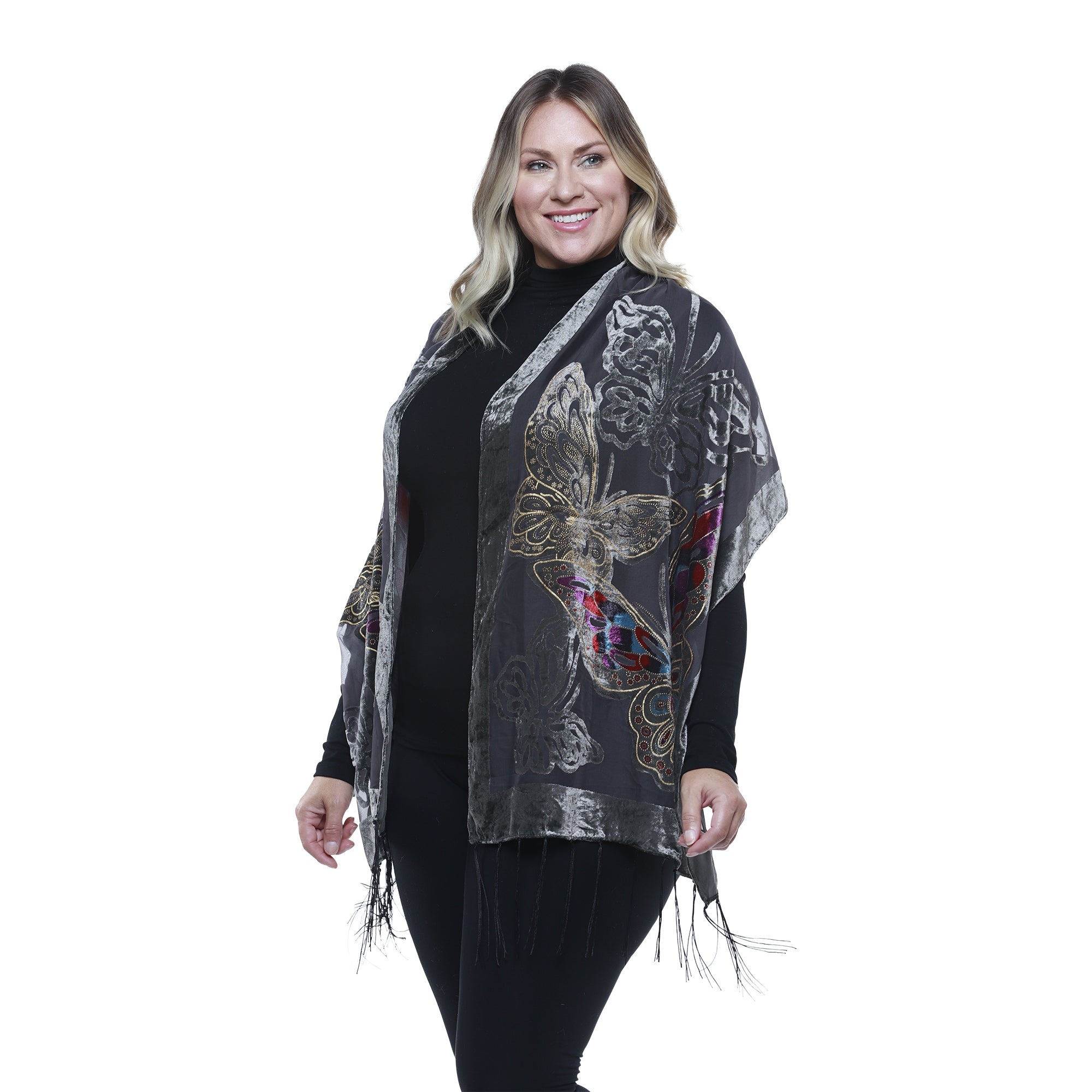 Butterfly Burnout Scarf