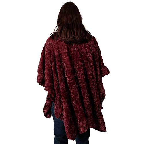 Le Moda Soft Faux Fur Shawl Poncho - One Size at Linda Anderson