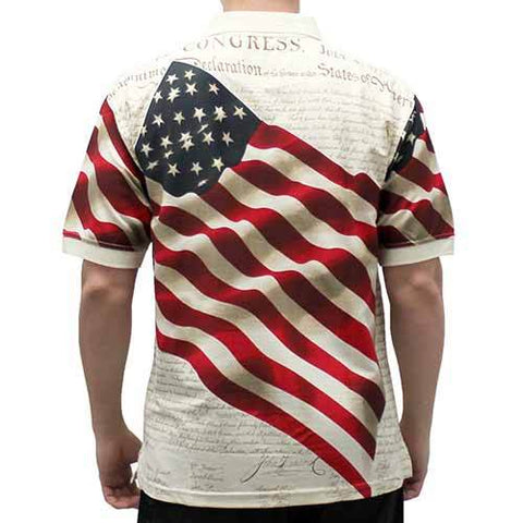 Men's American Flag Polo Shirt