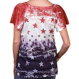 Ladies Patriotic Ruffle Top