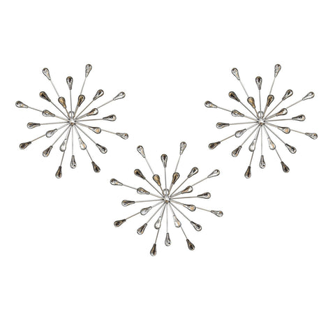 Set of 3 Acrylic Burst Wall Decor