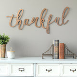 "Bronze ""Thankful"" Script Wall Decor"