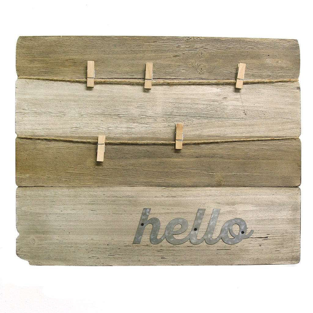 Wood Plank Clipboard Wall Decor