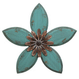 Antique Flower Wall Decor - Blue