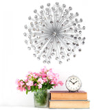 "24"" Silver Acrylic Burst Wall Decor"